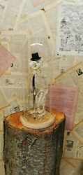 Taxidermy Rat Skeleton , Walking Stick , Hat , Curio, Glass Dome, Only One