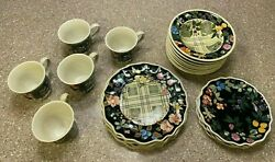 Tracy Porter China Set - Jardiniere Collection Dinner/salad Plates, Bowls, Mugs