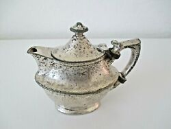 Antique Victorian Edwardian Silverplate Hinged Lid Cream Pitcher Oval Vntage