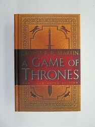 A Game Of Thrones Illustrated George R.r. Martin Signed 20th Anniv 1st Ed/1st Pr