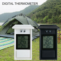 Digital Display Max Min Greenhouse Thermometer Garden Room Indoor Wall Outdoor