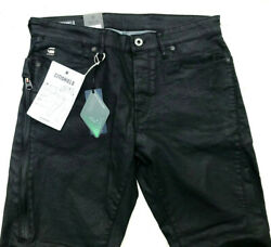 G-star Jeans And039citishield 3d Slim Taperedand039 Black Coated Water Protected W29 L30