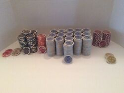 Collection Of Vintage Chips From Regency Casino, Bell California Circa 1981 To 1
