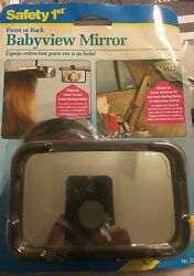 Safety 1st Babyview Mirror Front Or Rear Facing With Suction Cup And Clip