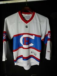 Rare Montreal Canadiens 2016 Nhl Winter Classic Reebok Jersey Youth Sm
