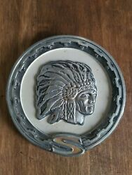 Vintage Jeep Cherokee Indian Chief Head Medallion Rare Emblem Collector's Item