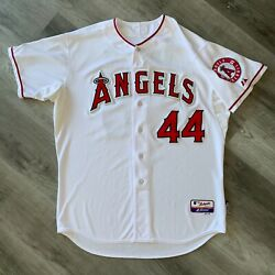 Game Worn Mark Trumbo 2012 Los Angeles Angels Jersey Majestic Mlb Authentication