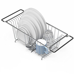 In Sink Dish Drying Rack Large Drainer Over The Kitchen For Small Spaces