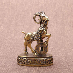 Solid Brass Goat Figurines Sheep Statue House Office Ornament Animal Figurines