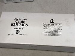 Cattle Ear Tags Clincher Style Numbered Metal 301 To 1000 @700 Total Size No.2