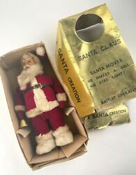 1960s Tin Toy Japan A Santa Creation 16404x Eyes Light Up Tested Working