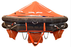 Life Raft Inflatable Boat Up To 25 People Capacity