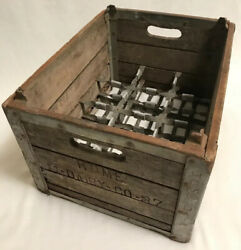 Vintage Milk Wood Crate Box Home 11-dairy-co-37 Quirk Crate Company Cudahy, Wis