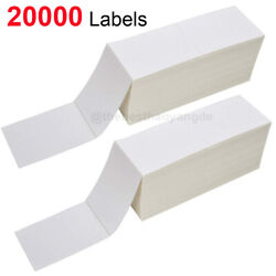 20000 Labels 4x6 Fanfold Direct Thermal Label Shipping For Zebra And Rollo Printer