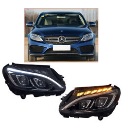Headlight Assembly For Benz W205 2015-2020 Led Projector Led Drl Replace Oem