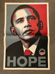 Barack Obama Hope - Shepard Fairey Iconic Art Poster Print Campaign Edition Obey