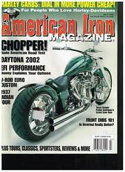 American Iron July 2002 See Contents And03937 Indian Four And03941 Chief And03974 Shovelhead
