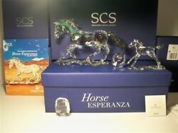Scs 2014 Ae Esperanza Criollo Horse Set With Foal And Paperweight Bnib