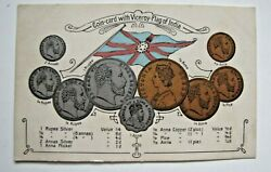 Coin-card With Viceroy-flag Of India. Choice Au Condition.