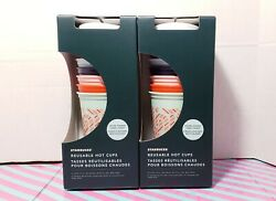 Color Changing Candy Cane Starbucks - Reusable Hot Cups - 6 Pack - 2020 Holiday