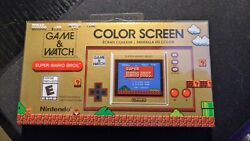 Nintendo Game And Watch Super Mario Bros Electronic Handheld In Hand