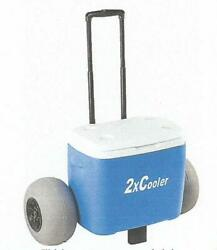 50 quart all terrain beach cooler with big wheels for easy maneuvering FREE SHIP $199.94