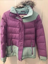 Free Country Youth Large Girls Hooded Winter Coat W Removable Hood $13.99