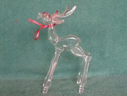 Rare Vintage Don Manning Nosco Clear Acrylic Modernistic Buck - Ec - Ships Free