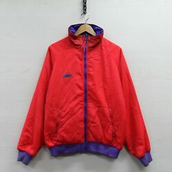 Vintage Columbia Reversible Jacket Size Large Blue Red Insulated Full Zip 90s