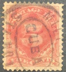 O 1884 Spanish Antilles Us Occupation, Postage Due Stamp, Sct 5c Red Brown, Am