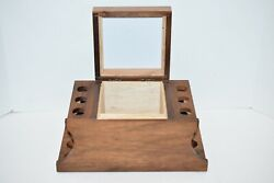 Vintage Pipe Stand Humidor Tobacco