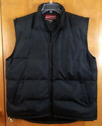 WEATHER PROTECTORS BY TOTES Size L Black Zip Up Puffer Vest MENS $20.98