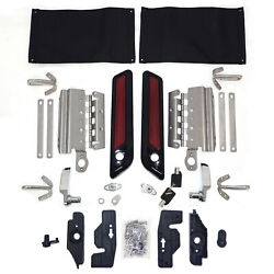 Saddlebag Latch Lids Hardware Covers One Touch For Harley Touring 2014-2020 2019