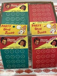 Vintage Party Punch Board Game And Novelty Toy - Japan 3 Dozen New Old Stock
