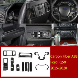 14×abs Inner Window Lift Buttonandsteering Wheel Panel Cover For Ford F150 2015-20