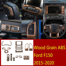18×abs Inner Window Lift Buttonandsteering Wheel Panel Trim For Ford F150 2015-20
