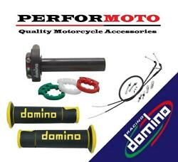 Domino Xm2 Quick Action Throttle Kit With A450 Grips To Fit Tm Racing Bikes
