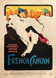 Vintage Film Poster - Rene Gruau - French Can Can - Moulin Rouge Edith Piaf 1955