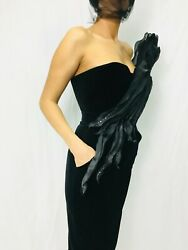 Sheath dress fitted designer new collection evening velvet fabric $720.00