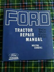 Ford Tractor Repair Manual Tractor Loader Backhoe 3400 3500 4400 4500