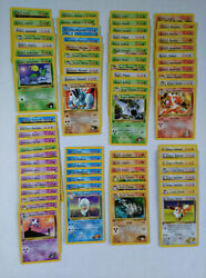 Gym Challange Pokemon Card Lot Of 77 - Common And Uncommon Nm