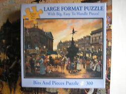 Piccadilly Square London Bits And Pieces Puzzle 300 Pc Jigsaw Sandi Lebron 18x24