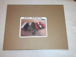 Vintage Marks Wind-up Train Set In Box With Key