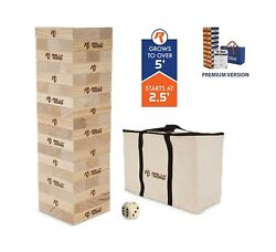 Rally And Roar Toppling Tower Giant Tumbling Timbers Game 2.5 Feet Tall Buil...