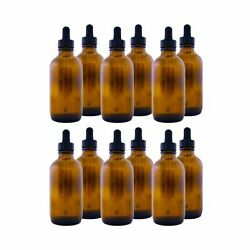 Amber Glass Bottle 4oz With Dropper12 Pack 4 Oz Amber Pack Of 12