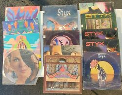 Lot Of 13 Styx Record Albums Lp 1970's - 1980's Rock With 1 Picture Disk