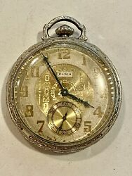 Sale__antique, Eglin 10k Gold Filled Pocket Watch, Not Working, See Watches