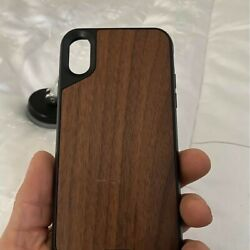Mous Iphonex Magnetic Case W/ Walnut Inlay + Suction Mount