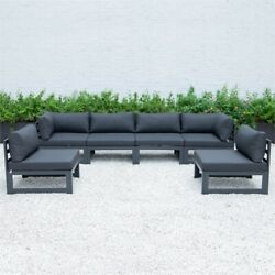 Leisuremod Chelsea 6-piece Sectional With Cushions In Black