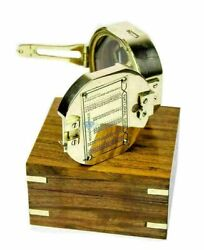 Lot Of 50 Pcs Brass Vintage Compass With Decorative Wooden Box Nautical Compass